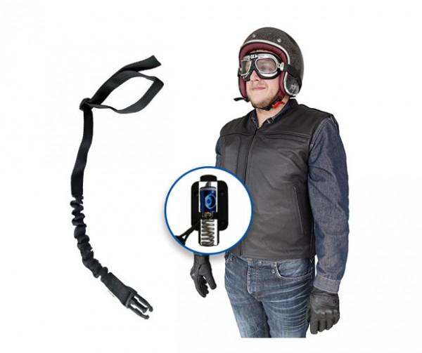 Custom: Gilet Airbag per motociclista in pelle-7072