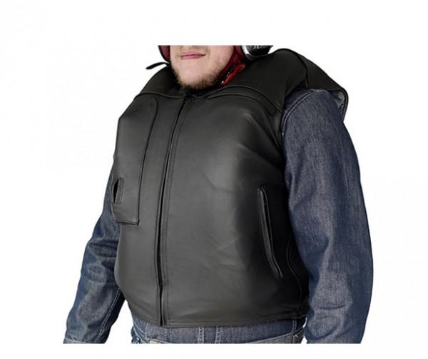 Custom: Gilet Airbag per motociclista in pelle-7074