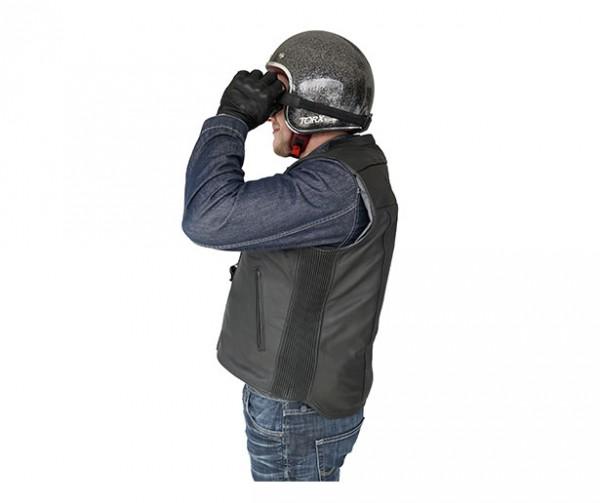 Custom: Gilet Airbag per motociclista in pelle-7077