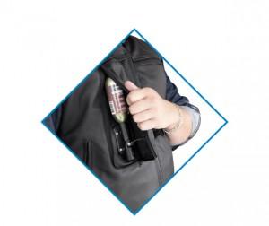 Custom: Gilet Airbag per motociclista in pelle-7082