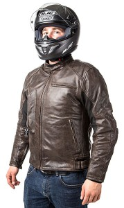 Roadster: Giacca airbag in pelle per motociclista-0