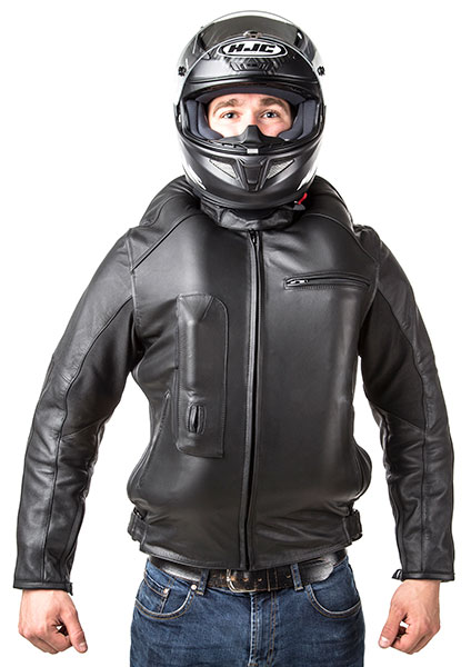 Roadster: Giacca airbag in pelle per motociclista-7107