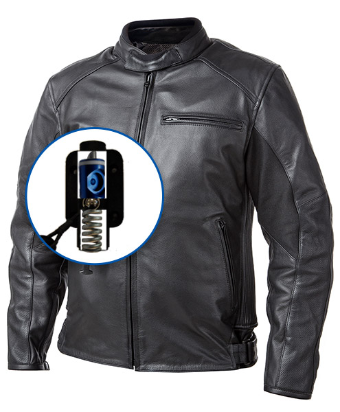 Roadster: Giacca airbag in pelle per motociclista-7110
