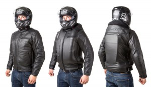 Roadster: Giacca airbag in pelle per motociclista-7111