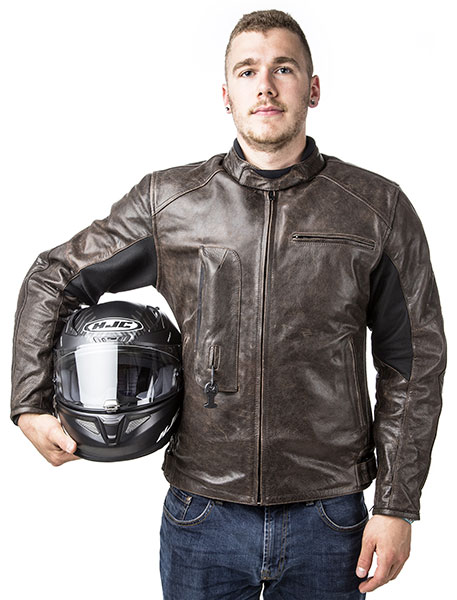 Roadster: Giacca airbag in pelle per motociclista-7115