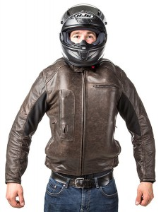 Roadster: Giacca airbag in pelle per motociclista-7120